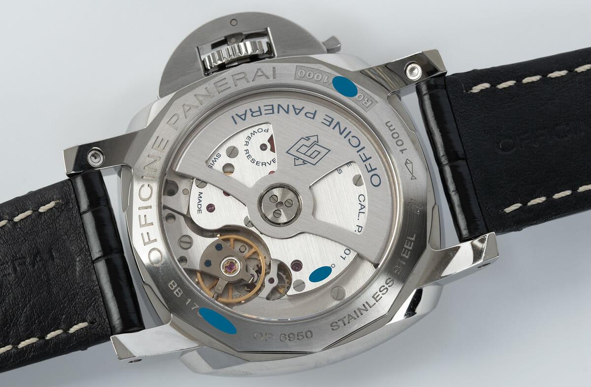 Caseback of Luminor 1950 42 GMT