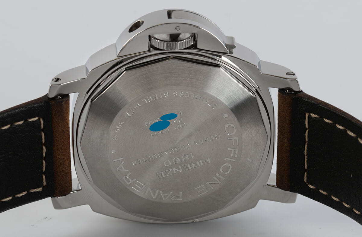 Caseback of Luminor GMT