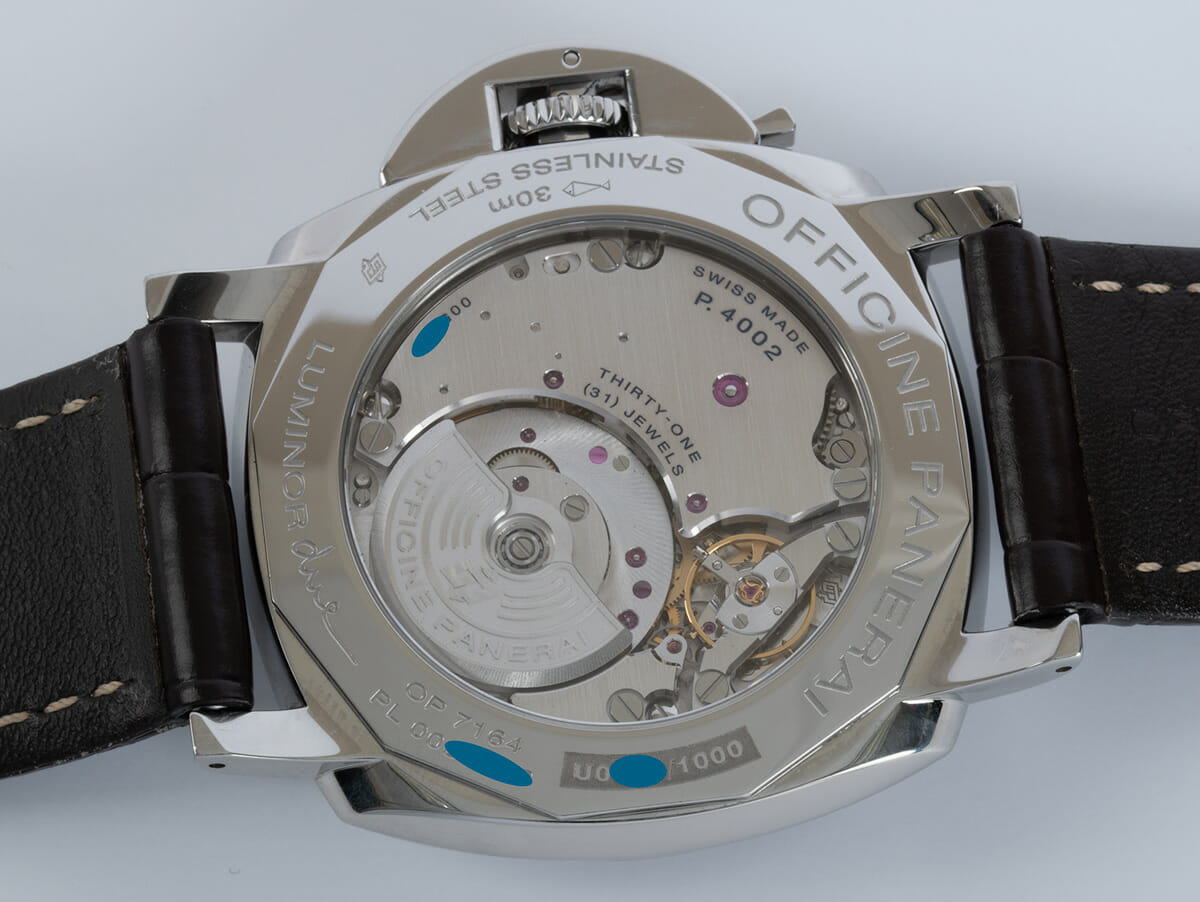Caseback of Luminor Due GMT