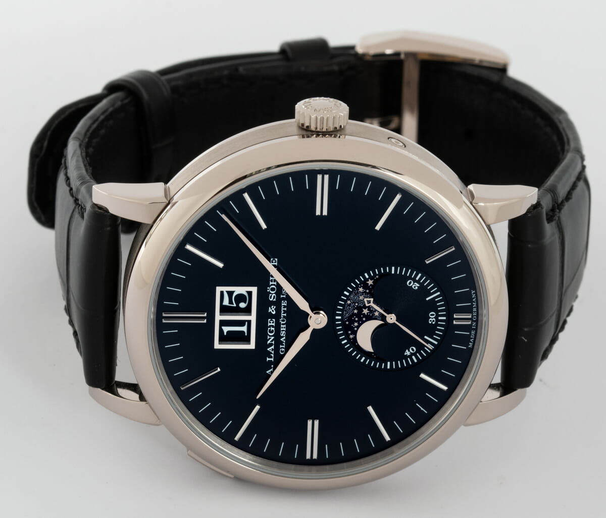 Front View of Saxonia Moon Phase