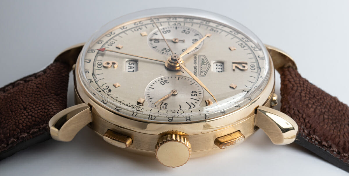 Crown Side Shot of Chrono-Datoluxe Vintage