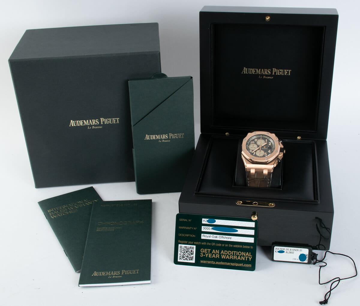 Box / Paper shot of Royal Oak Offshore Chronograph