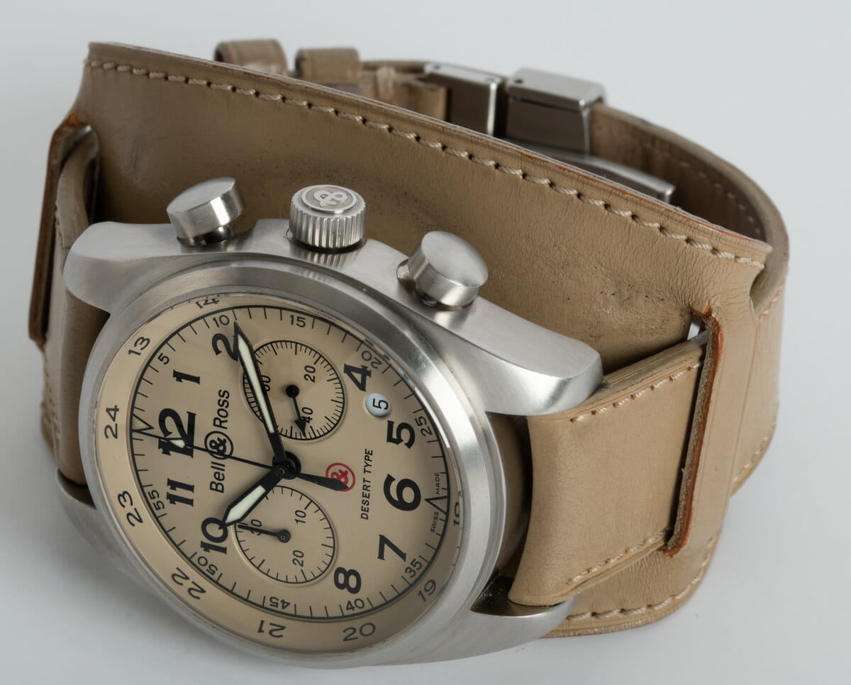 Front View of Vintage 126 XL Desert Type Chronograph
