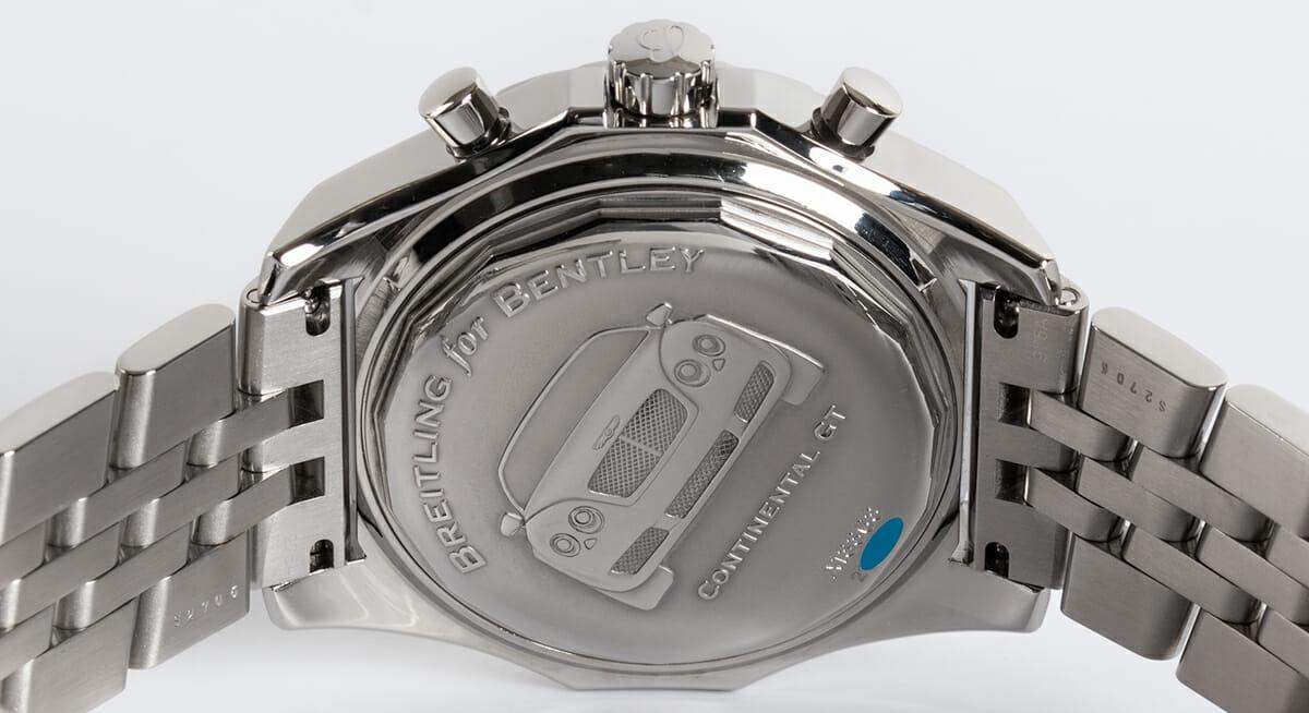Caseback of Bentley GT Racing Chronograph