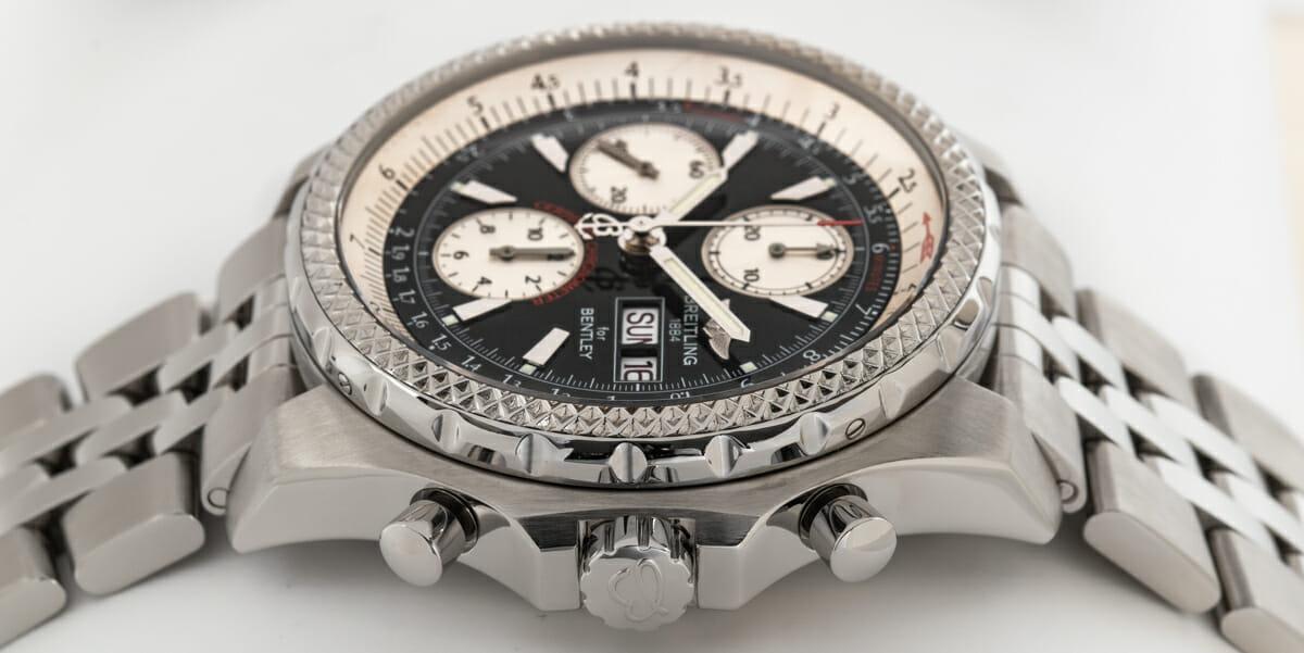 Crown Side Shot of Bentley GT Racing Chronograph