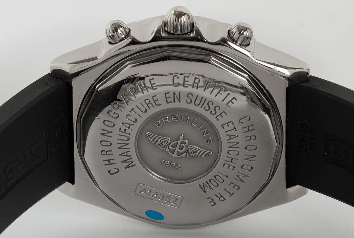 Caseback of Chronomat