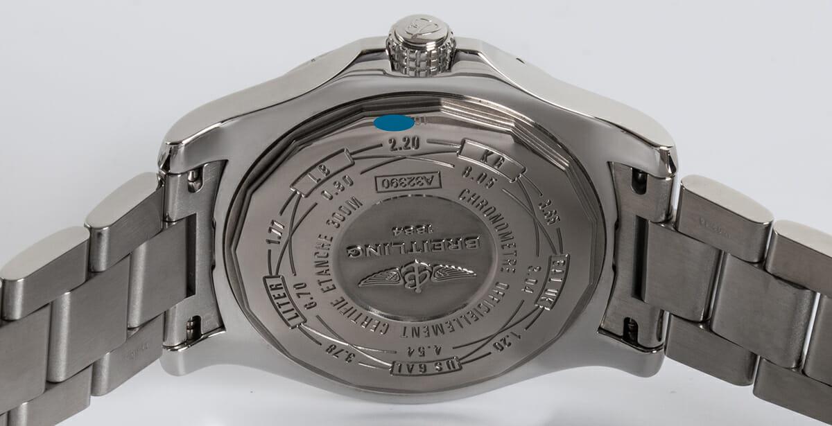 Caseback of Avenger II GMT