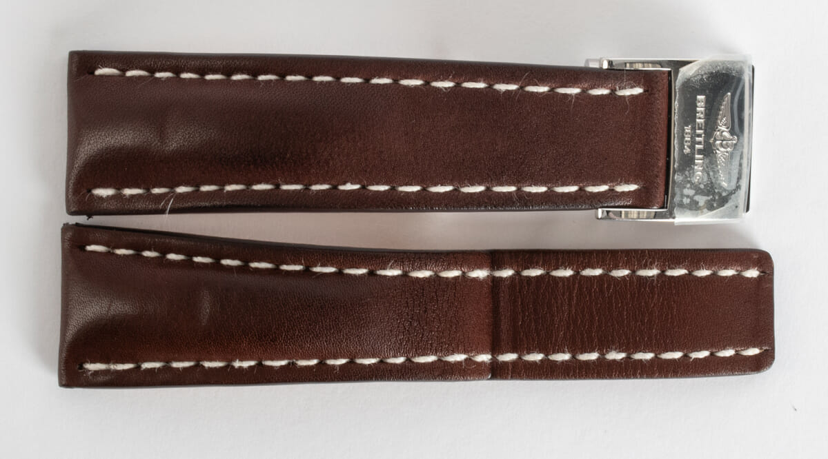 Front View of Leather Deployant Strap