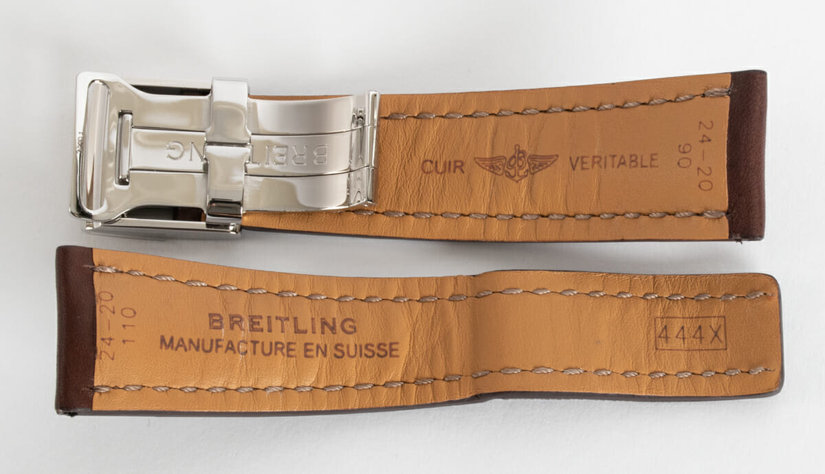 Rear / Band View of Leather Deployant Strap