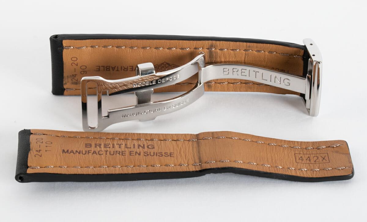 9' Side Shot of Leather Deployant Strap