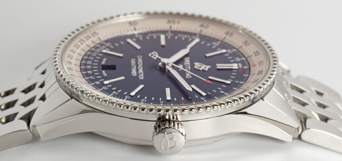 Crown Side Shot of Navitimer 1 Automatic 41