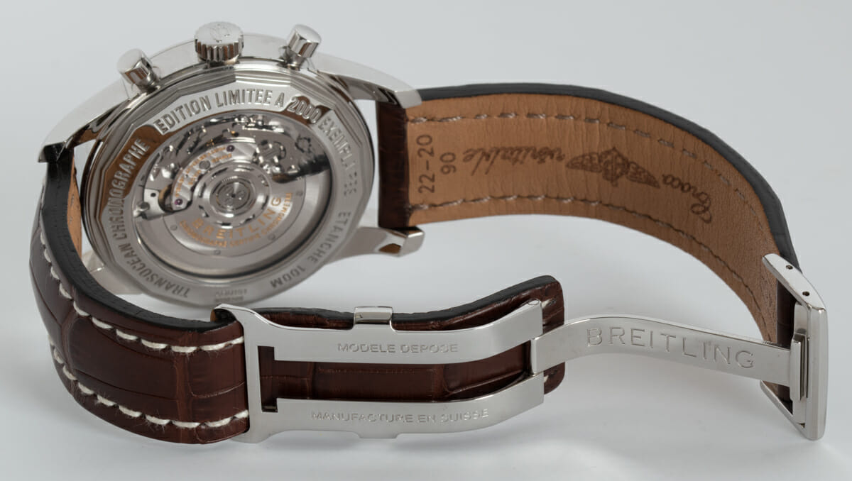 Open Clasp Shot of Transocean Chronograph