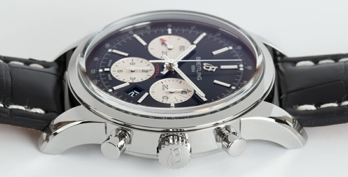Crown Side Shot of TransOcean Chronograph