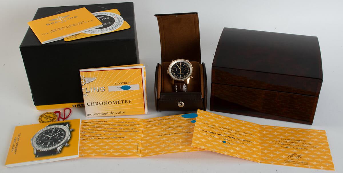 Box / Paper shot of Navitimer Chronomatic