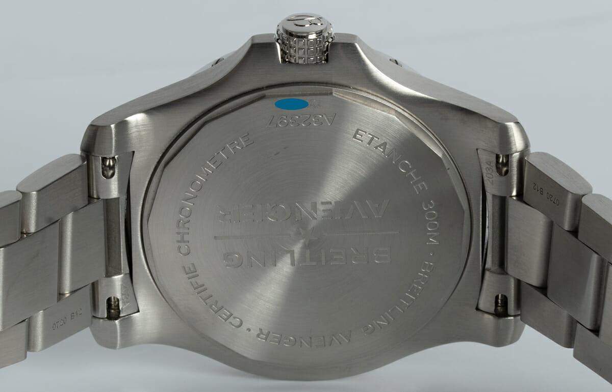Caseback of Avenger GMT 43