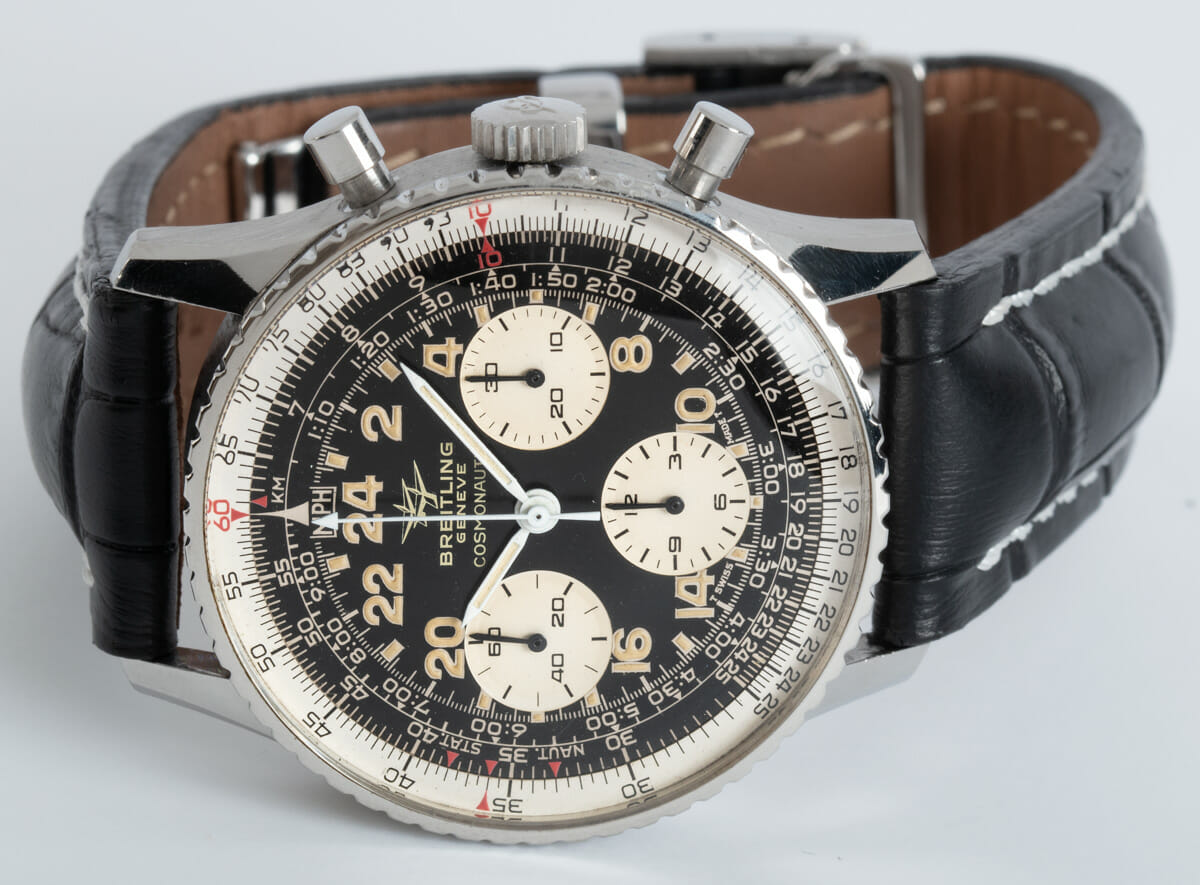 Front View of Navitimer Cosmonaute 'Twin Jets' Vintage