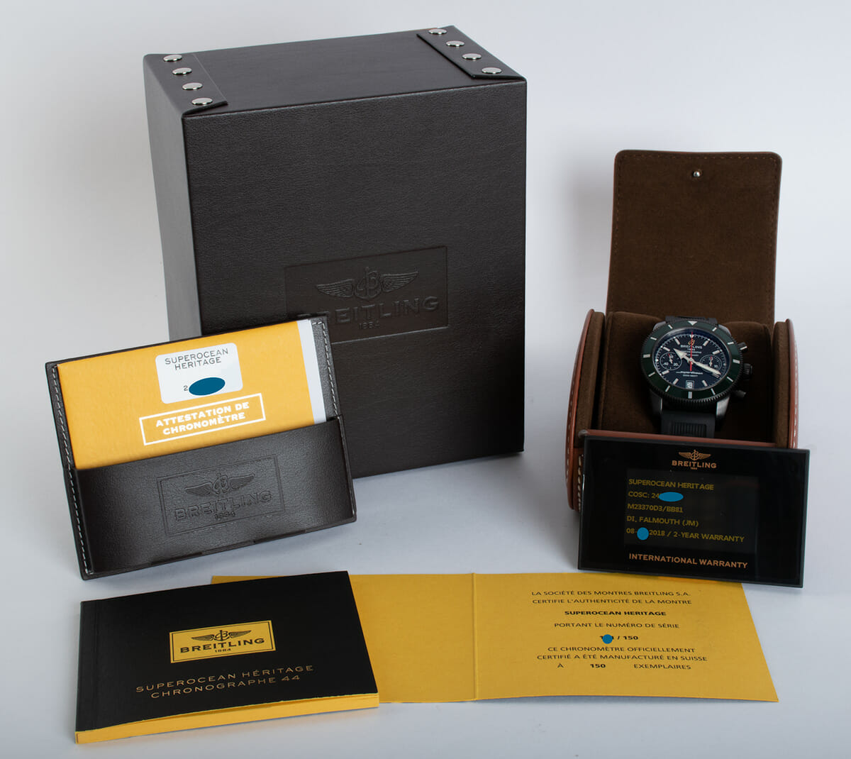 Box / Paper shot of SuperOcean Heritage Chronograph 44 BlackSteel