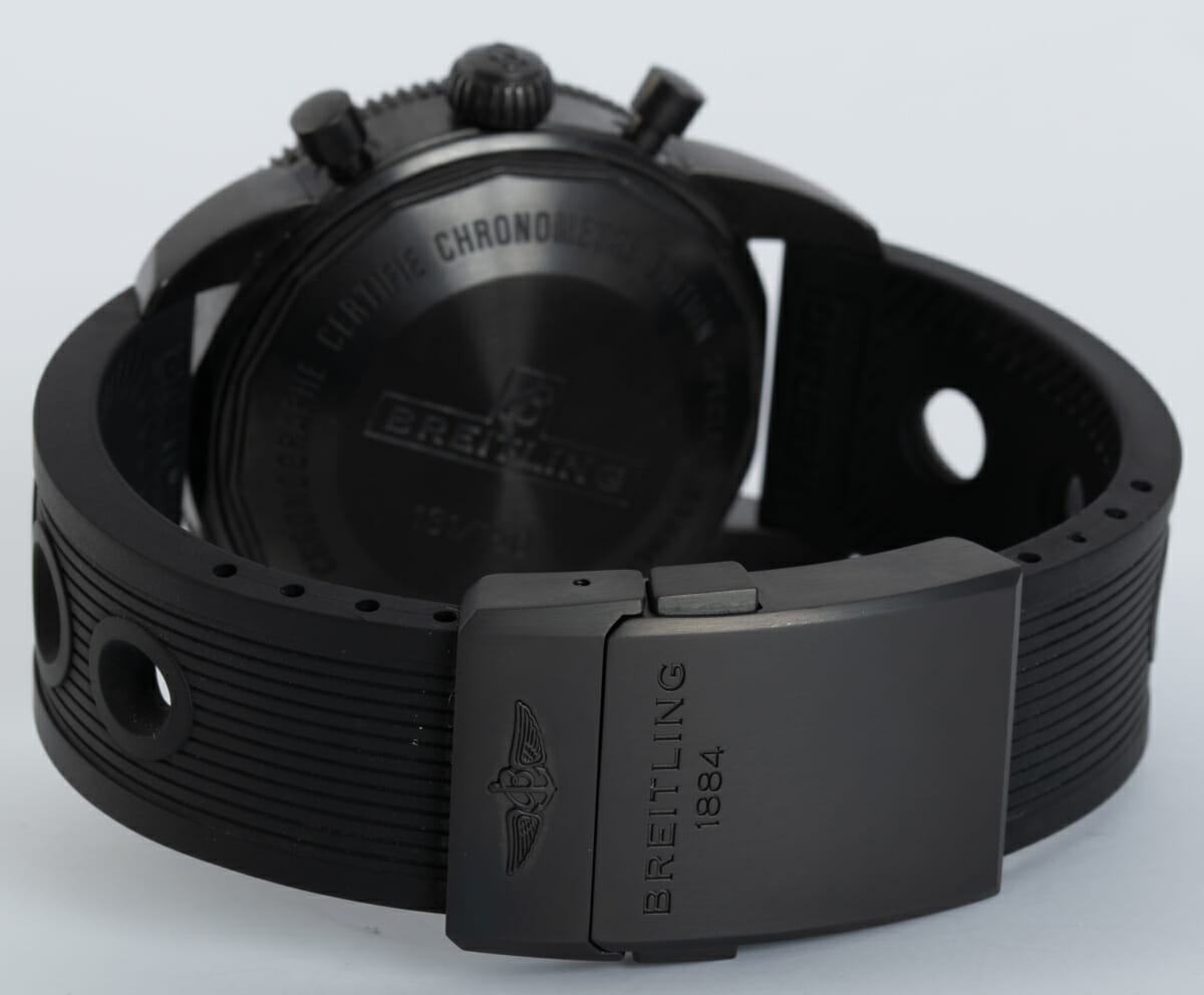 Rear / Band View of SuperOcean Heritage Chronograph 44 BlackSteel