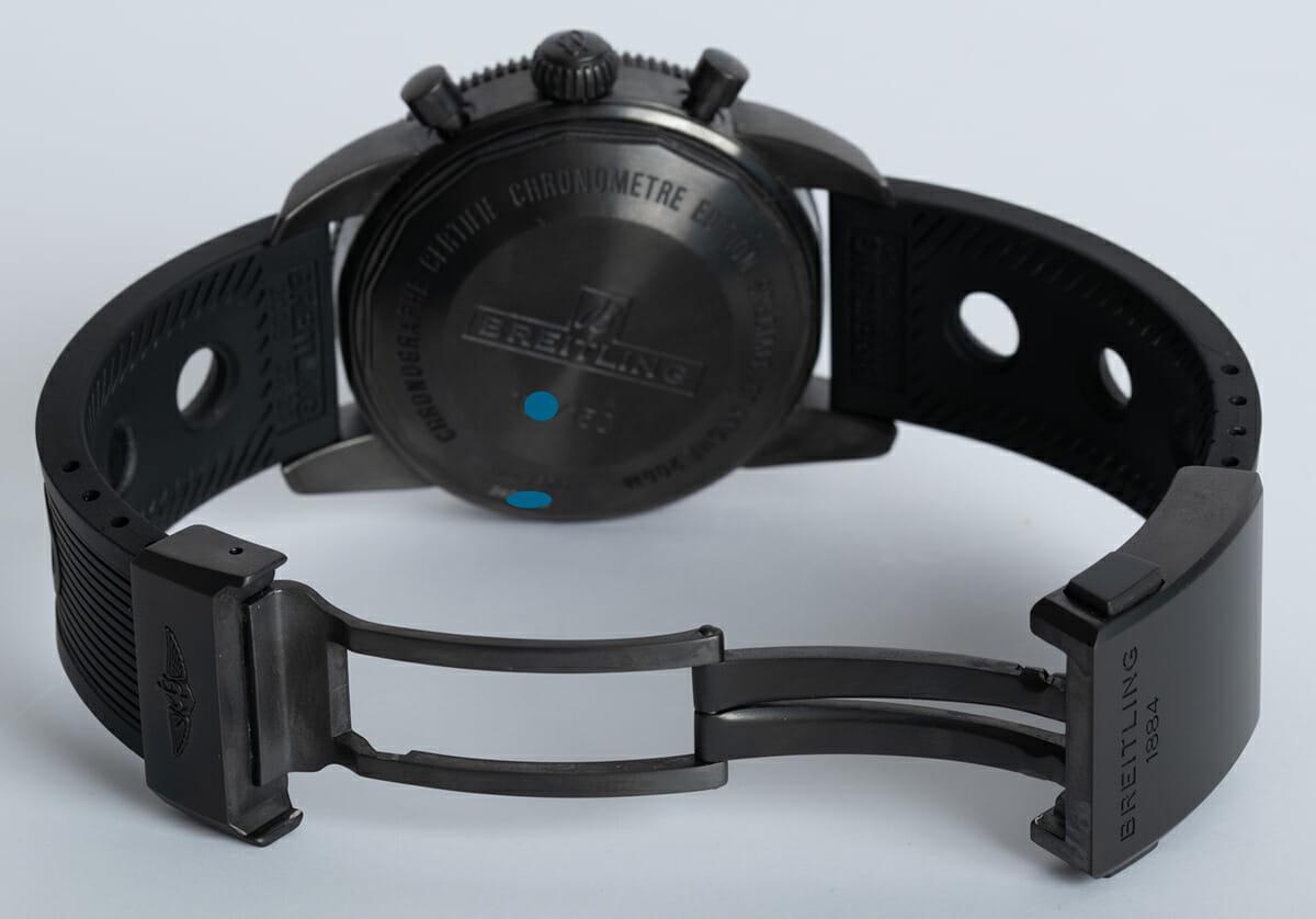 Open Clasp Shot of SuperOcean Heritage Chronograph 44 BlackSteel