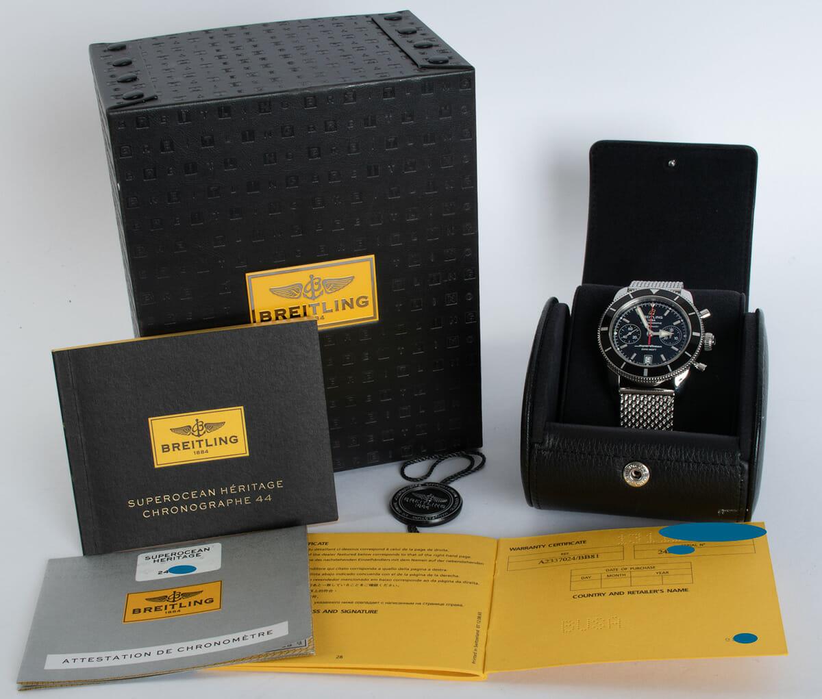 Box / Paper shot of SuperOcean Heritage Chronograph 44