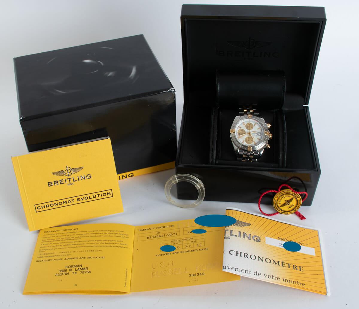 Box / Paper shot of Chronomat Evolution