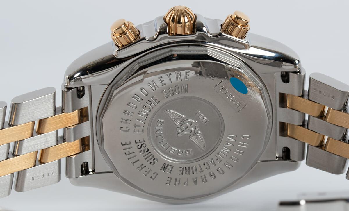 Caseback of Chronomat Evolution