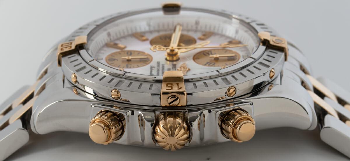 Crown Side Shot of Chronomat Evolution