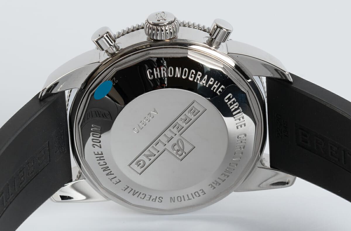 Caseback of SuperOcean Heritage Chronograph 44