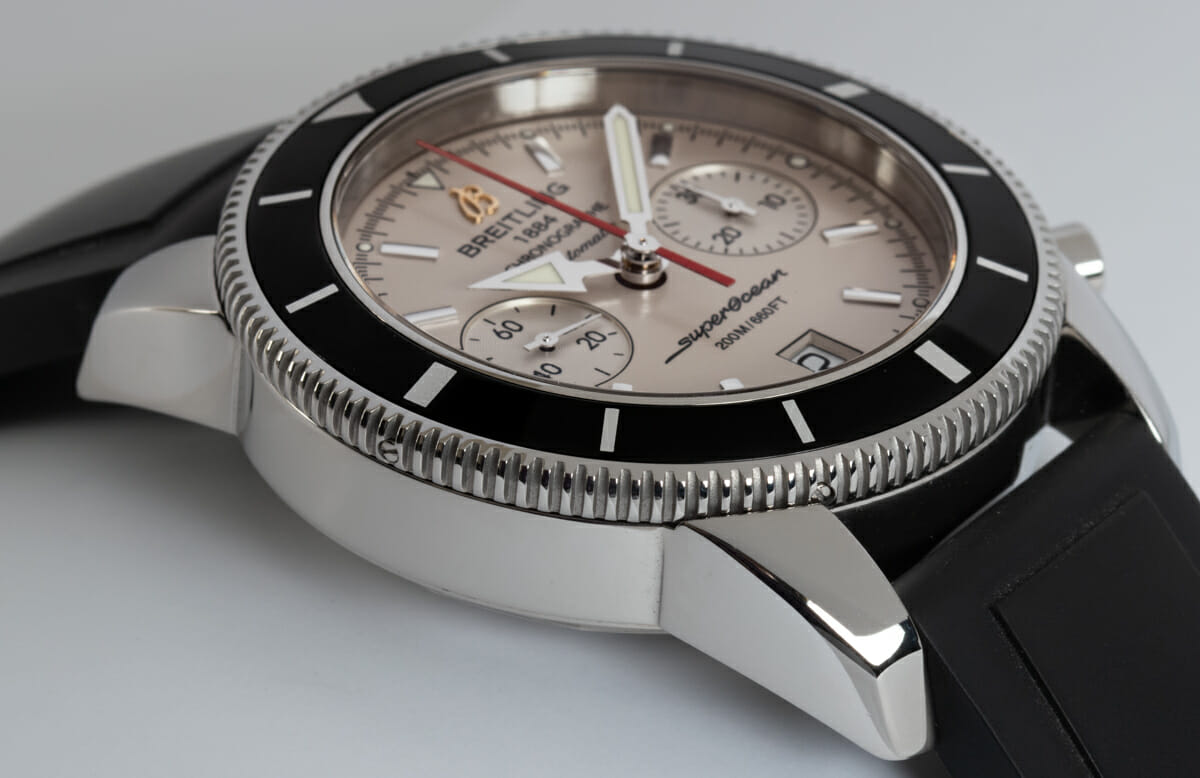 9' Side Shot of SuperOcean Heritage Chronograph 44