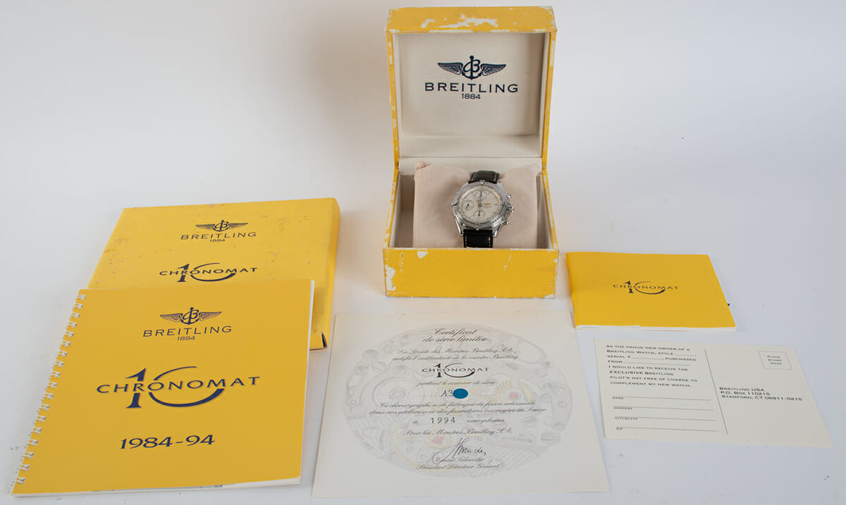 Box / Paper shot of Chronomat 10th Anniversary Special Edition