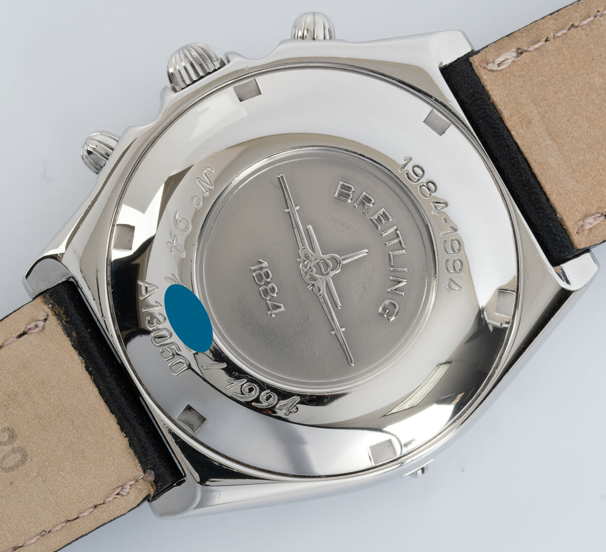 Caseback of Chronomat 10th Anniversary Special Edition