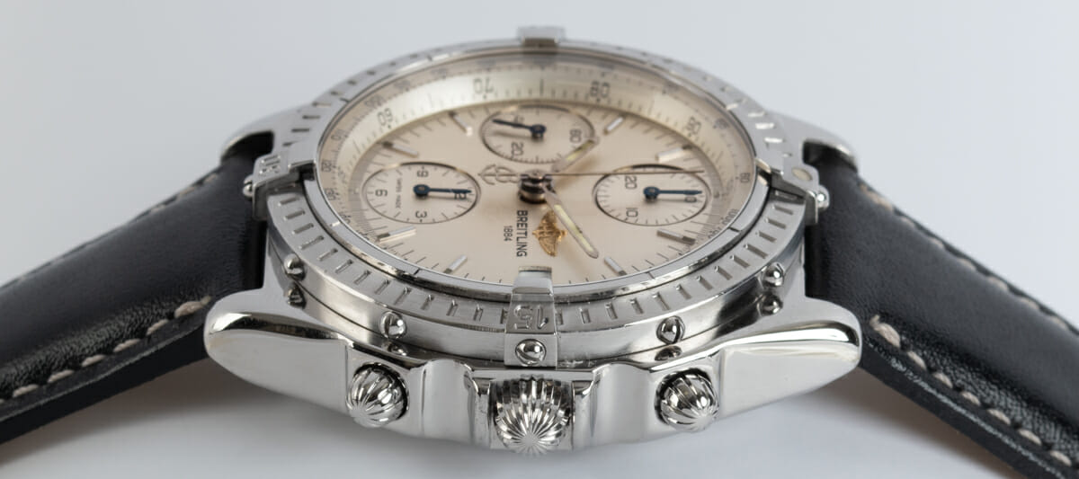 Crown Side Shot of Chronomat 10th Anniversary Special Edition