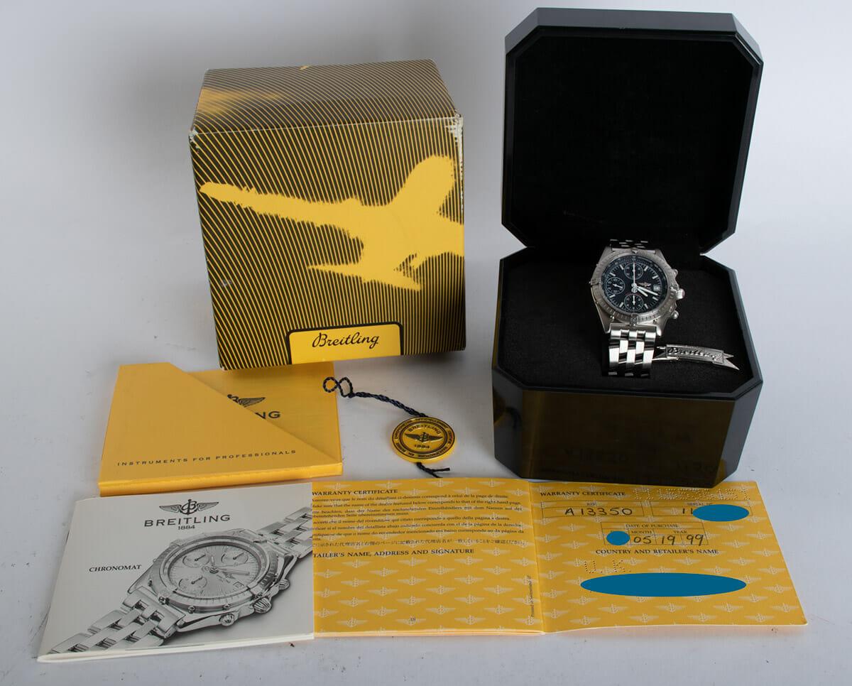 Box / Paper shot of Chronomat 'Blackbird'