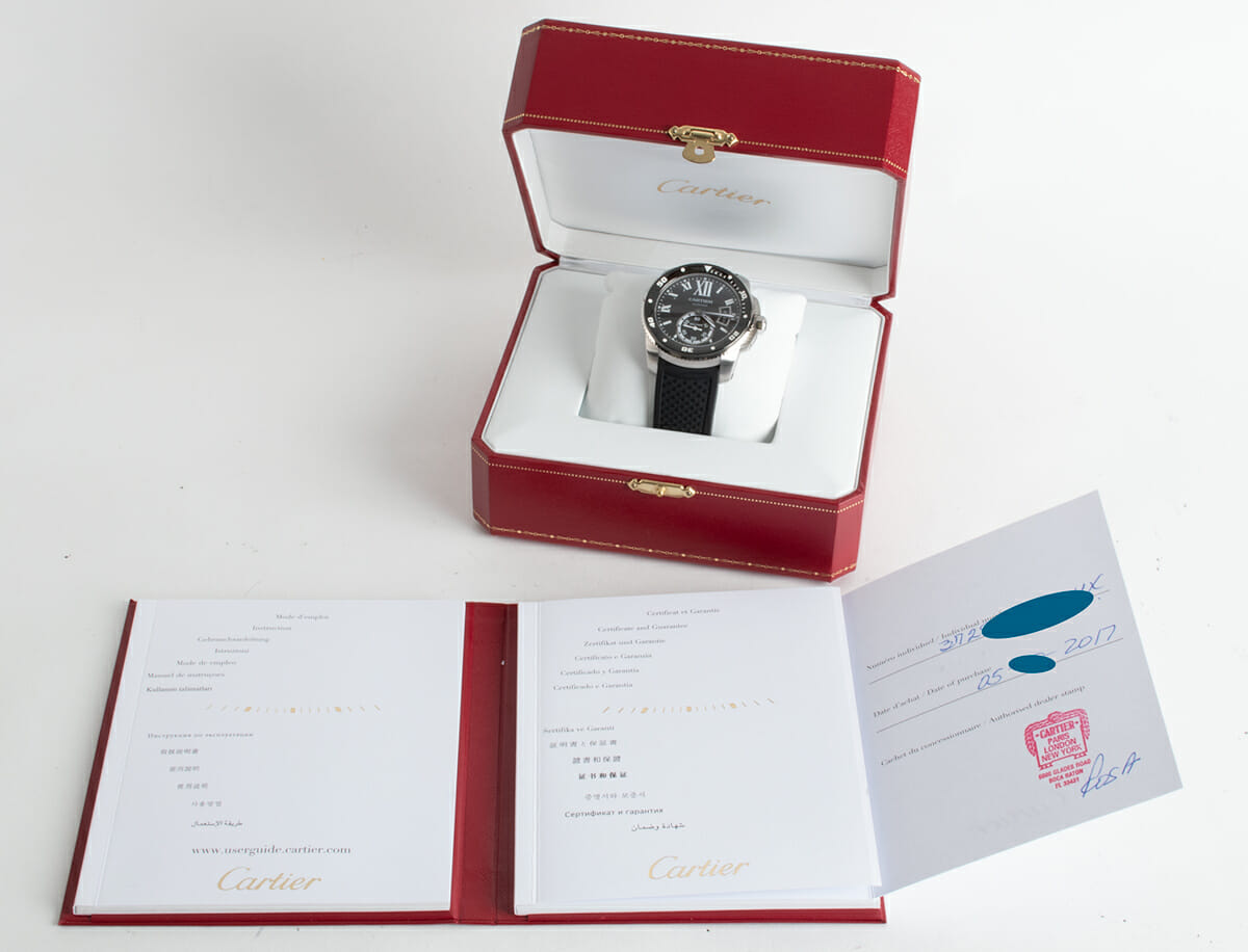 Box / Paper shot of Calibre de Cartier Diver