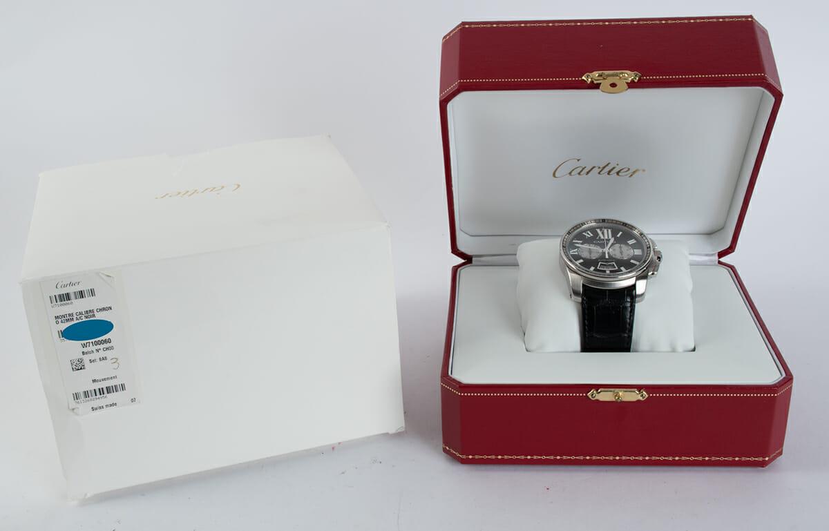 Box / Paper shot of Calibre de Cartier Chronograph