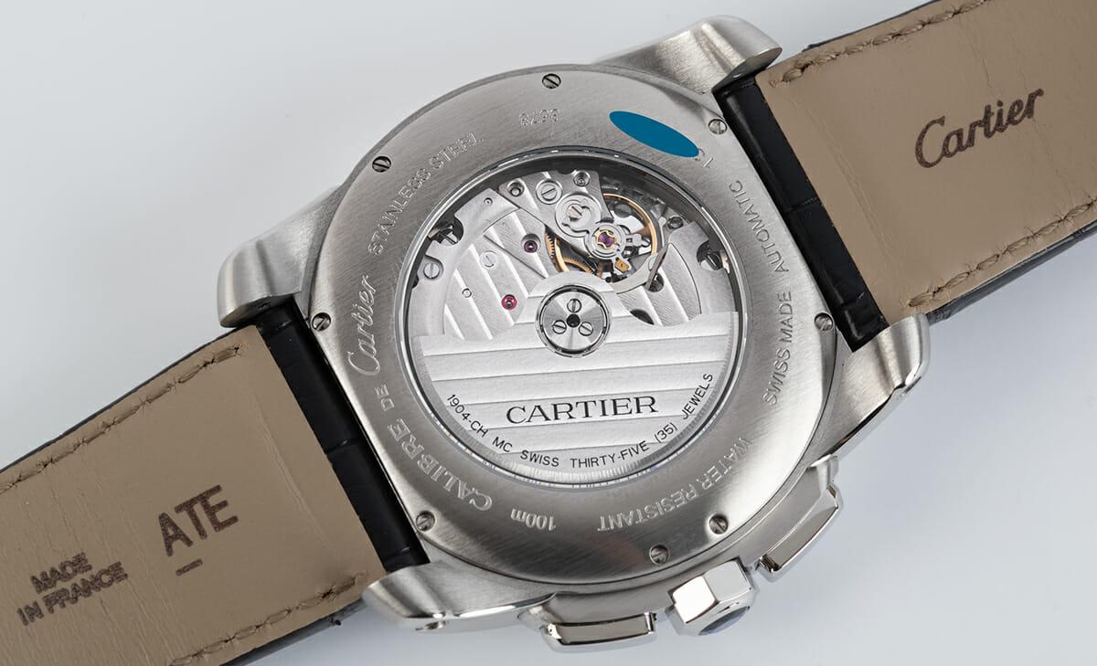 Caseback of Calibre de Cartier Chronograph