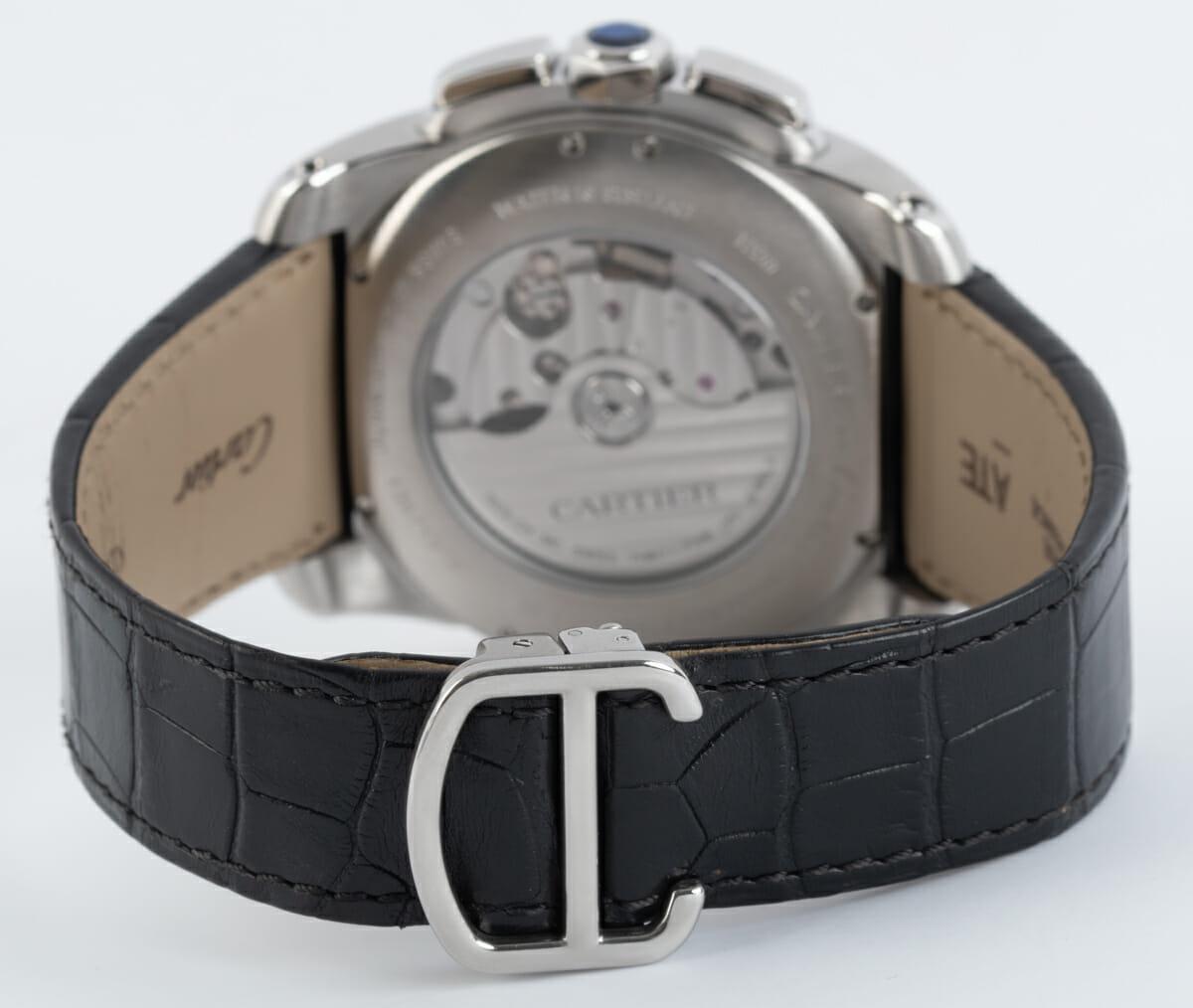 Rear / Band View of Calibre de Cartier Chronograph