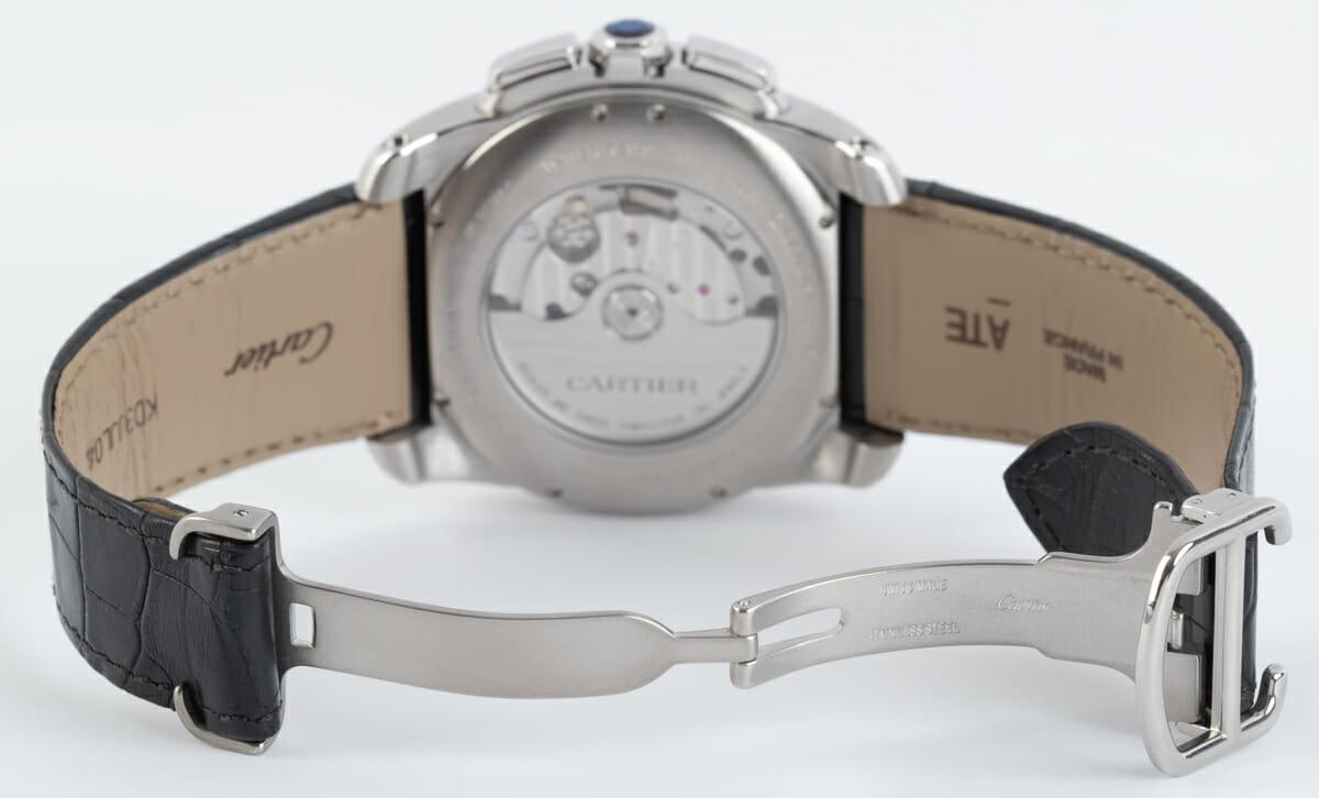 Open Clasp Shot of Calibre de Cartier Chronograph