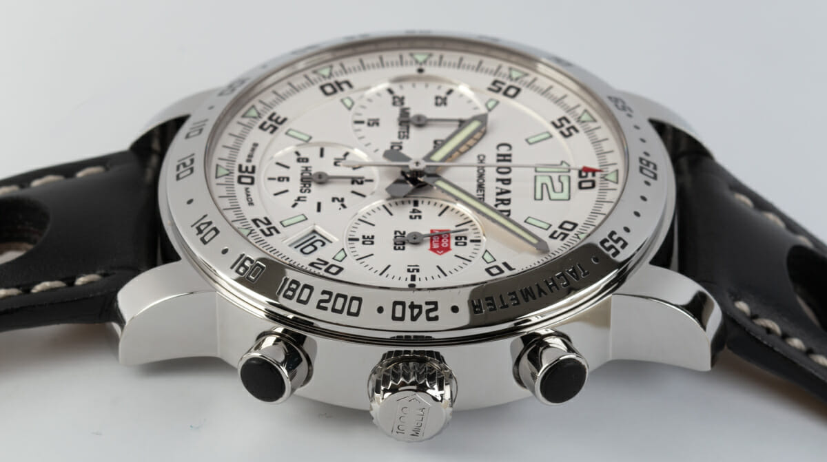Crown Side Shot of Mille Miglia Chronograph