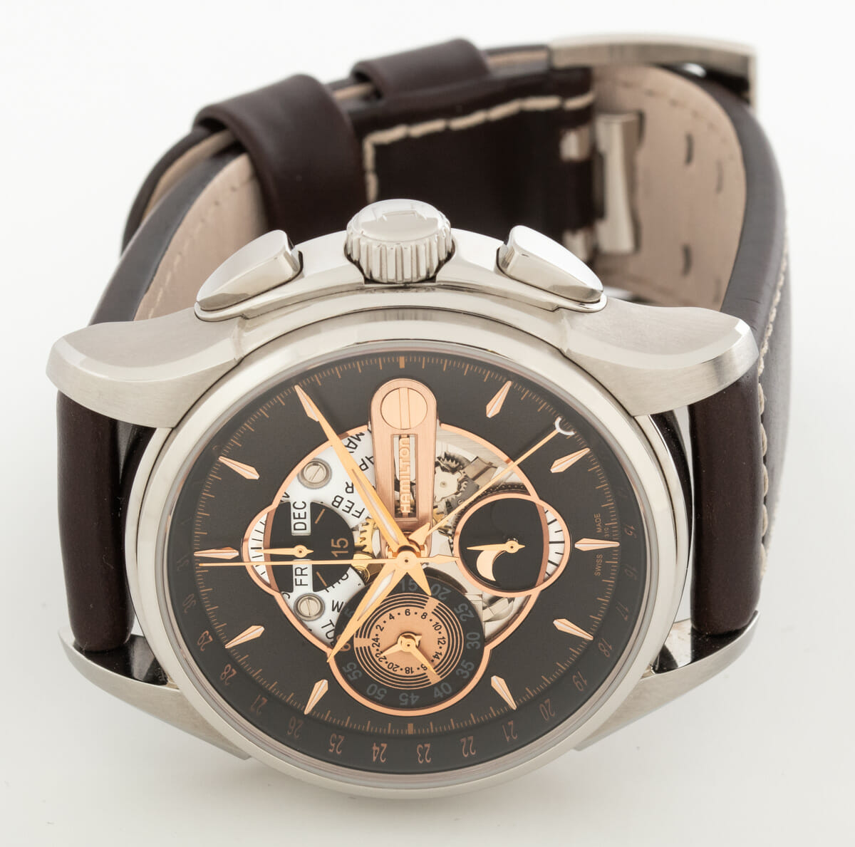Front View of Jazzmaster Moon Chronograph
