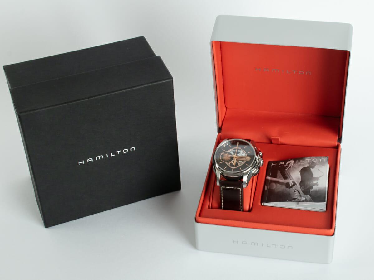 Box / Paper shot of Jazzmaster Moon Chronograph
