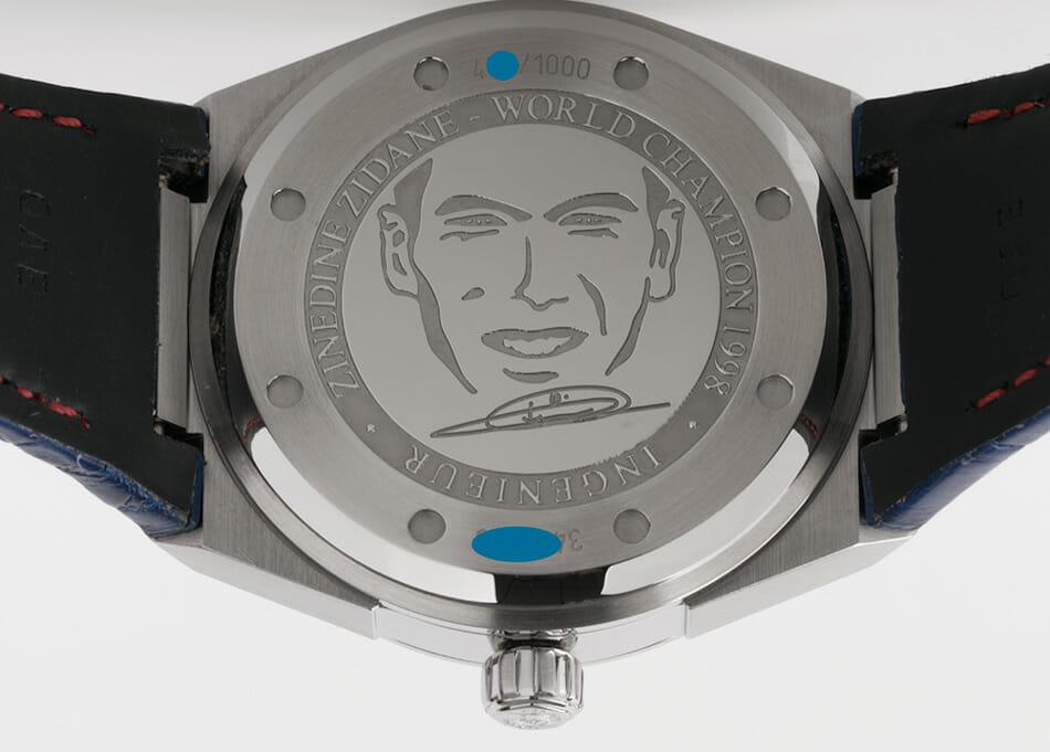 Caseback of Ingenieur Zinedine Zidane Limited Edition
