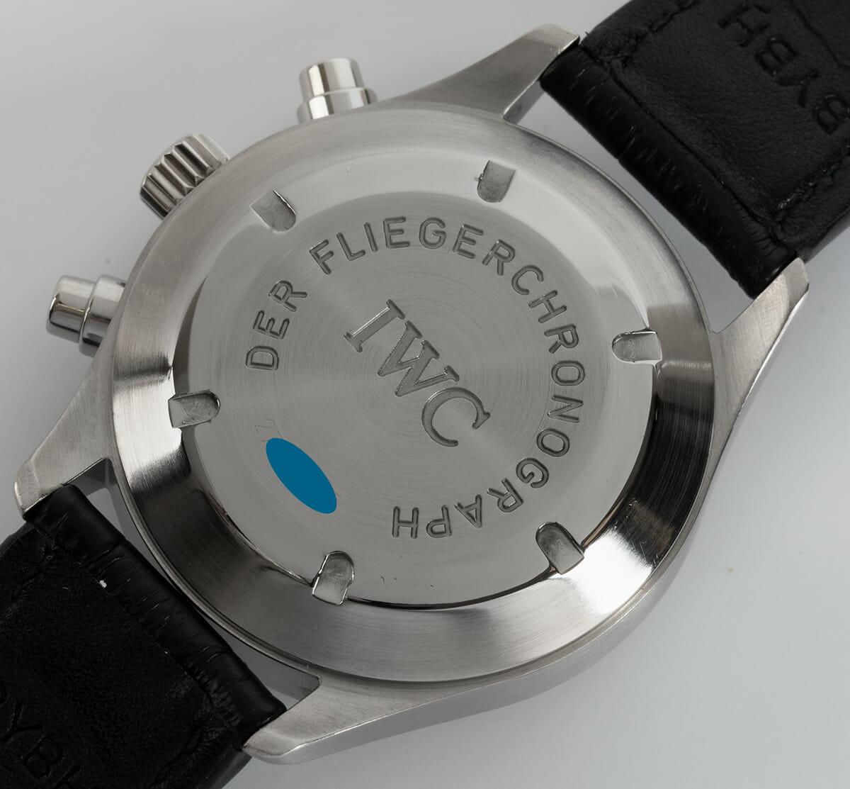 Caseback of Fliegerchronograph