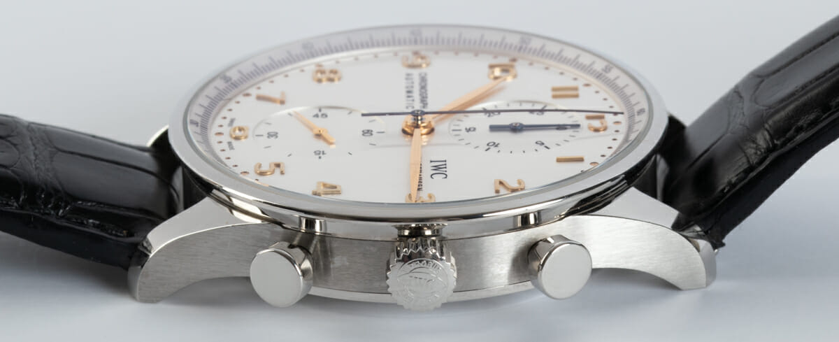 Crown Side Shot of Portugieser Chronograph