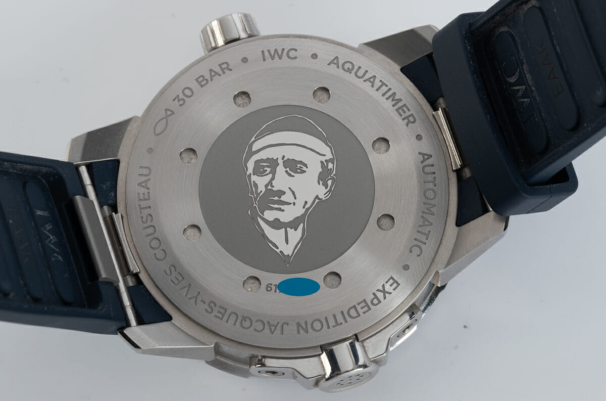 Caseback of Aquatimer 'Expedition Jacques-Yves Cousteau'
