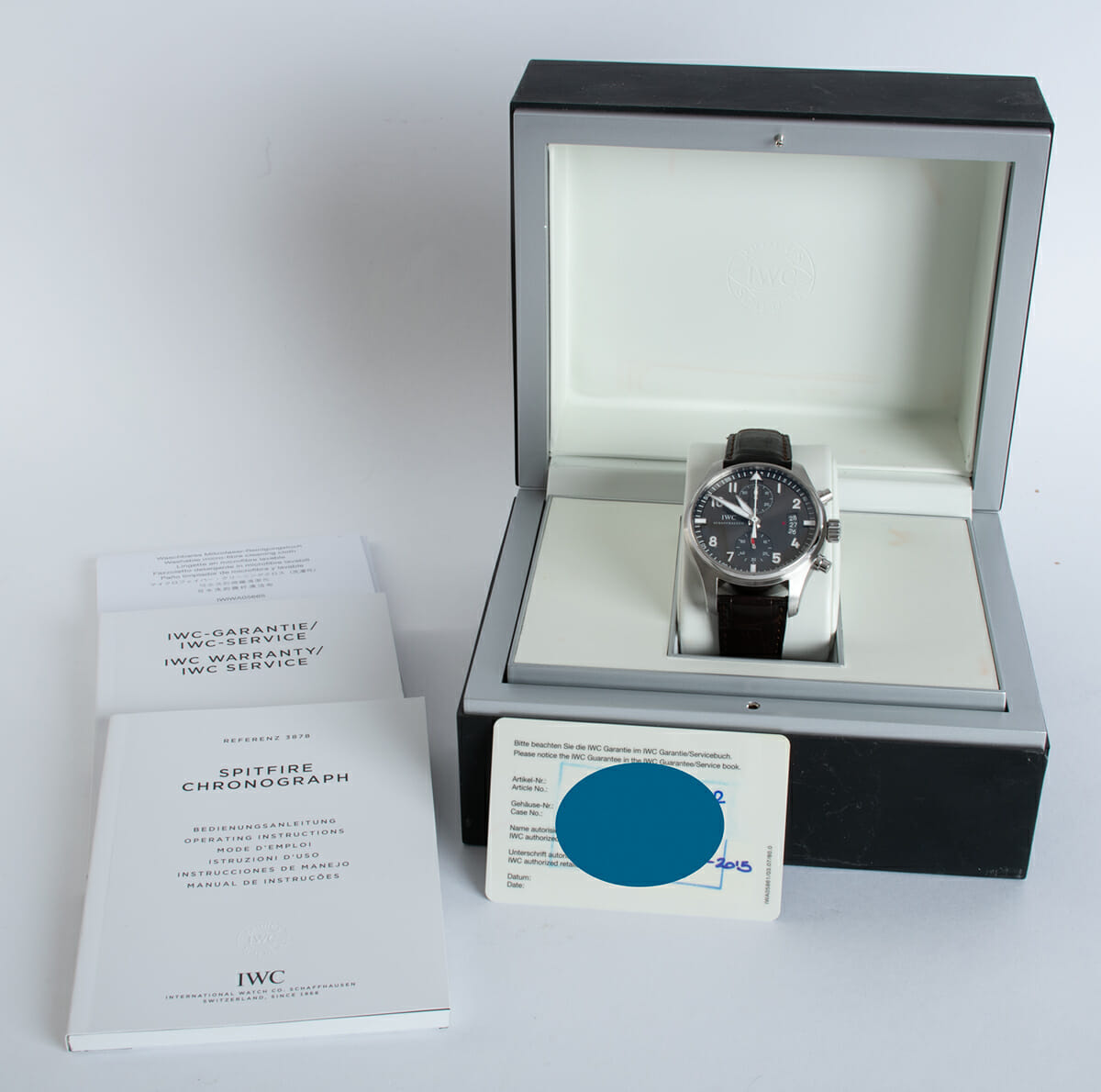 Box / Paper shot of Spitfire Flyback Chronograph
