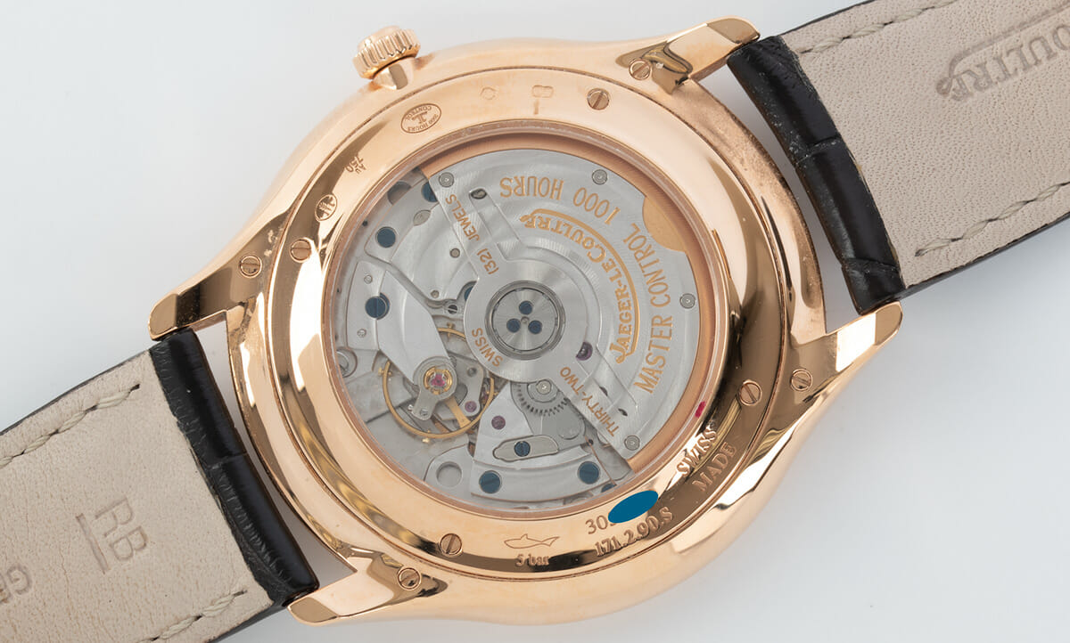 Caseback of Master Ultra Thin Small Seconds