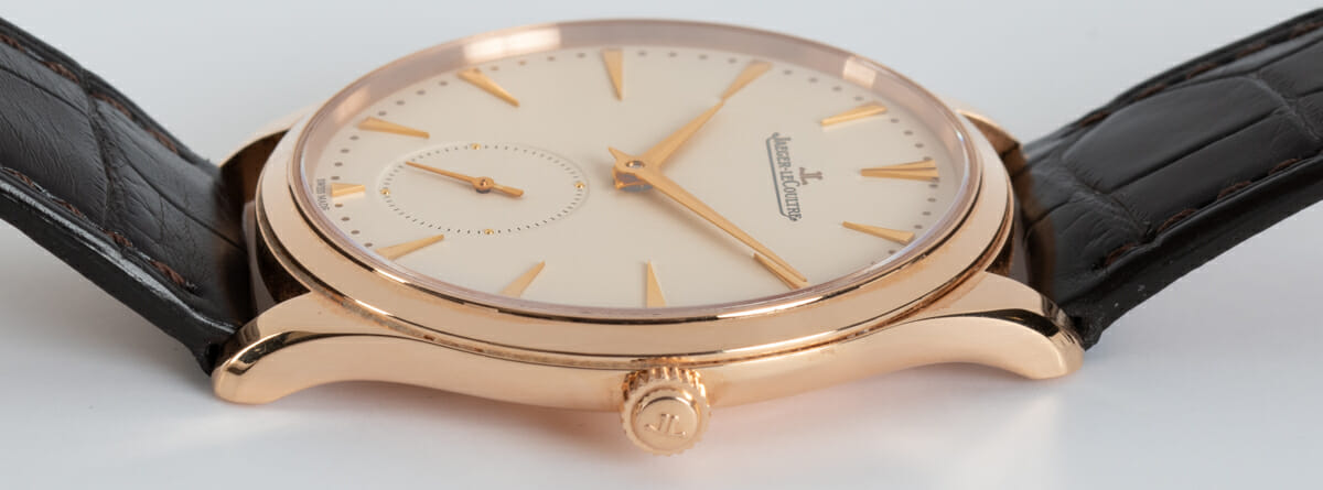 Crown Side Shot of Master Ultra Thin Small Seconds