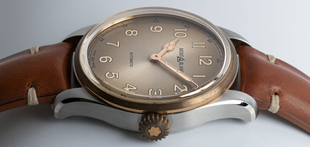 Crown Side Shot of 1858 Chronograph