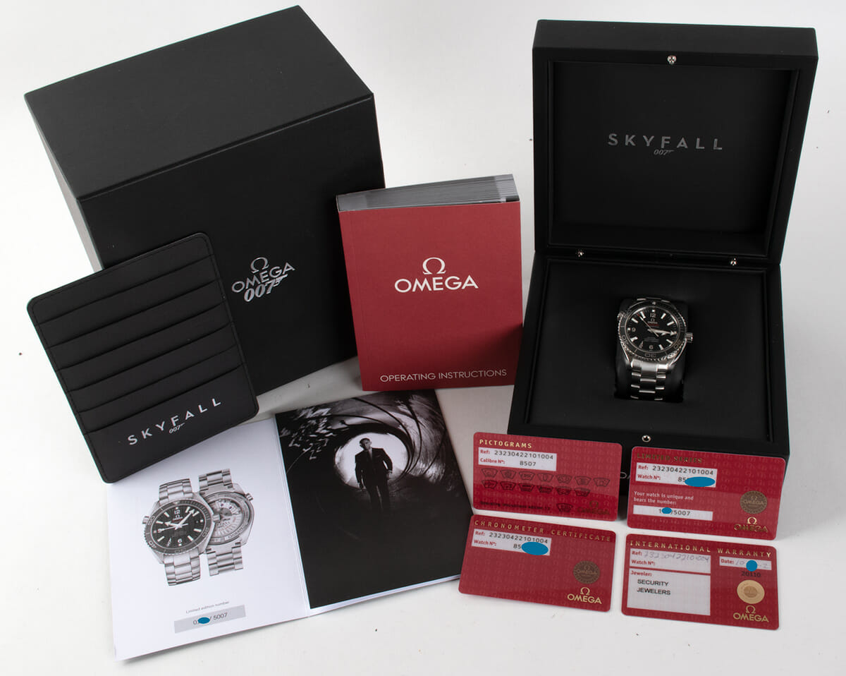 Box / Paper shot of Seamaster Planet Ocean 'Skyfall' Limited Edition